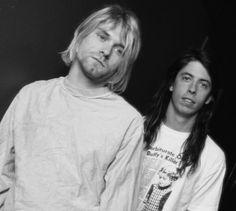 Kurt cobain, Dave grohl. Nirvana.