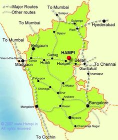 Goa to Hampi Gernal Knowledge, General Knowledge Facts, Knowledge Quotes, India World Map, India Map, Travel Destinations In India, India Travel Guide, Hampi, Mysore