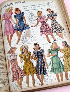 Fashion from sears catalog, 1939