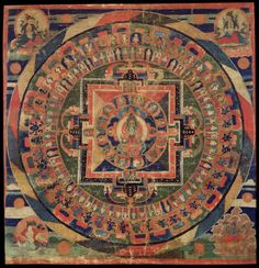 Avalokiteshvara Mandala, Tibet, 1500-1599 Text and images made available on the Himalayan Art Website, created to provide an educational resource to the public, are the property of the Shelley  Donald Rubin Foundation
