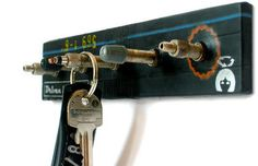 Key holder: Clever use of upcycled #bicycle tube valves.