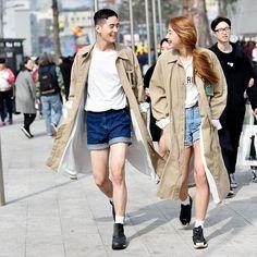 SFW Street Style by #Streetper  @dhoalsh @araraach  Http://www.streetper.co.kr Http://www.facebook.com/streetper  #sfw #seoulfashionweek #15fw #fashion #fashionstyle #style #stylish #seoul #korea #street #streetstyle #streetfashion #87mm