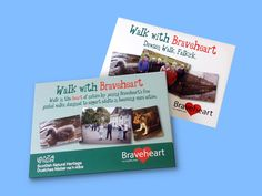 Falkirk Walks folder and inserts designed by Glasgow graphic designers G3 Creative Solutions.