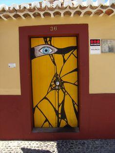 Painted doors in Funchal