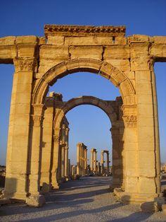 ancient city of Queen Zenobia (UNESCO World Heritage site) Palmyra, Syria