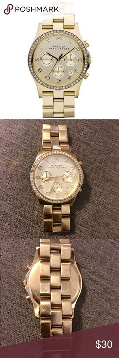 Montre pour femme : Marc by Marc Women's Henry Chrono Gold Authentic Marc by Marc gold stainless