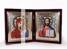 Aufklappbare zweifache Geschenk - Ikone, Samt 36x21