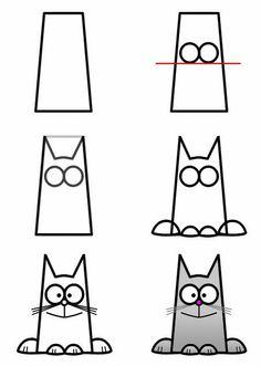 kat tekenen met kleuters / kvadratnyj-koshak