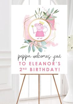 Peppa Pig Birthday Invitations, Toy Story Invitations, Peppa Pig Birthday Decorations, Girl Birthday Cupcakes, 2nd Birthday Party For Girl, Birthday Ideas, Pig Girl, Pigs, Cupcake Toppers