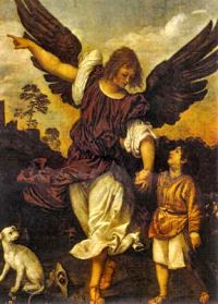 Saint Raphael, Archangel, pray for us and pharmacists, health technicians, shepherds, travellers, the blind and against blindness.  Feast day September 29, 2014.