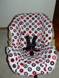 Laura's Blog: Sew an Infant Car Seat Cover without destroying the original. I like this technique to make a pattern!