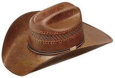 Double S Brown Two Tone Straw Cowboy Hat | AA Callisters