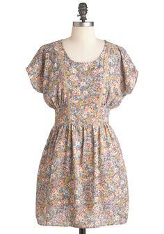Tender Loving Carolina Dress - Short, Multi, Floral, Pockets, Casual, A-line, Short Sleeves, Spring, Multi