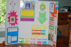 Preschool calendar board.