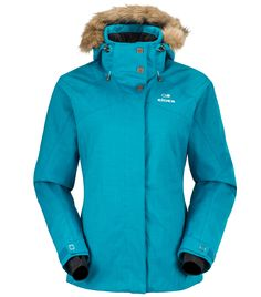Eider Manhattan Jacket Women's (Lagoon Blue) £250.  The Manhattan uses a twill fabric that gives an urban feel and a faux fur-trimmed hood for a distinct feminine touch. A Defender membrane will keep you dry and carefully zoned insulation, thanks to Eider's patented thermal control system, will keep you warm on the slopes.