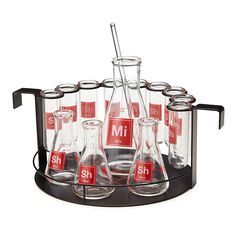 Lab Cocktail Set | barware, geek gifts, cocktail glasses | UncommonGoods