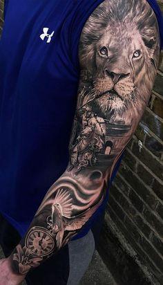 Sleeve and Hand Tattoos . Sleeve and Hand Tattoos . Pin by Samra Says On Tattoo Ideas 3 Jesus Tattoo Sleeve, Animal Sleeve Tattoo, Lion Tattoo Sleeves, Full Sleeve Tattoos, Tattoo Sleeve Designs, Hand Tattoos Pictures, Hand Tattoo Images, Full Hand Tattoo, Picture Tattoos