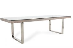 Bernhardt Interiors Henley Glass Dining Table | Mathis Brothers Furniture