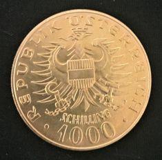 1976 Austria 1000 Schilling Gold Coin Babenberg Dynasty Millennium KM2933