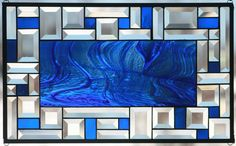 Sky Blue Heaven Stained Glass Window Panel by Lindaleeglass on Etsy