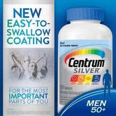 Centrum Silver Men's 50+ 250 viên - Vitamin đàn ông trên 50 tuổi