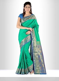 Real attractiveness will come out out of your dressing style with this art silk contemporary. The ethnic weaving print to your apparel adds a sign of magnificence statement with a look. Comes with mat...