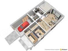 Projekt domu Dostępny 2 132,3 m2 - koszt budowy - EXTRADOM Shoe Rack, Home, Houses, Shoe Closet, Shoe Racks, Shoe Cupboard, Haus, Homes, At Home