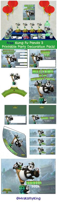 Looking to plan a Kung Fu Panda 3 birthday party? Here's a FreeKung Fu Panda 3 Printable Decorations.