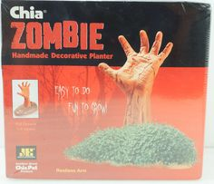 Chia Pet Zombie Restless Arm Decorative Planter New in Box The Walking Dead #Zombie #Undead