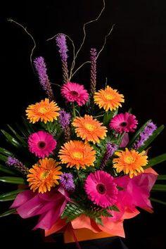 Colorful flower arrangements