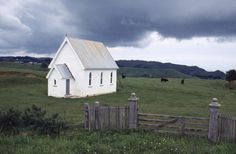 Robin Morrison, Abandoned church at Awhitu. ca 1988.