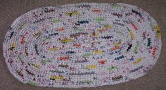oval rug made from plastic bag's