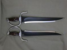Black and White Butterfly Swords (Modell Design LLC)