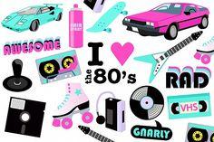 New decor retro party Ideas 90s Party Decorations, Party Themes, Ideas Party, Retro Party, 80s Party, Homemade Invitations, Mascot Design, Clip Art, Art Icon