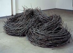 John Bisbee has spent nearly 30 years welding and forging 12-inch nails into amazing works of sculptural work. This might sound like a misplaced act of dedication until you see just how beautiful and impressive his sculptures are.