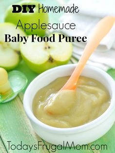 DIY Homemade Applesauce Baby Food Puree :: Today's Frugal Mom™
