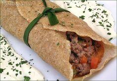 PANELATERAPIA - Blog de Culinária, Gastronomia e Receitas: Panqueca Integral de Carne com Legumes