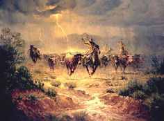 Harvey Art--Spooked by G. Harvey, a G. Harvey limited edition available from J Watson Fine Art 661 your source for G. G Harvey, Cowboy Images, West Art, Cowboy Art, Le Far West, Sports Art, Wildlife Art, Native American Art, Canvas Art Prints