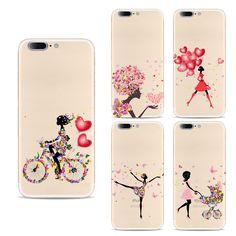 Handy fällen Für Apple Iphone 7 fall Silicon Nette reizendes Mädchen gemalt Fällen für iphone 7 rückseitige abdeckung