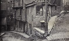 Junction of Steep Street and Trenchard Street, Bristol, 1866.