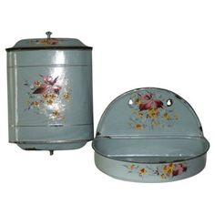 Check out this item at One Kings Lane! 1920s Hand-Painted French Lavabo, 2 Pcs