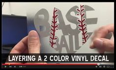 How to layer a multi color Baseball vinyl decal for a car window