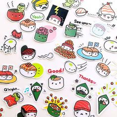 Cutest sushi/rice stickers ever. #stickers #kawaii #cute #sushi #japanese #planneraddict #stickiiclub