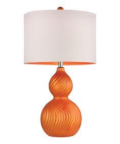 Tangerine Orange Gourd Lamp Gourd Lamp, Ceramic Table Lamps, Orange Table Lamps, Shimmer Lights, Contemporary Table Lamps, Modern Table, Elk Lighting, Lamp Sets, Home Decor Bedroom