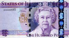 Jersey 100 pound commemorative banknote