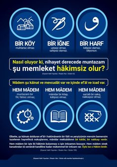 Grafikle İslamiyet - Part 4 E Words, Kids Education, Ruler, Muslim, Religion, Author, Letters, Islamic, Poster