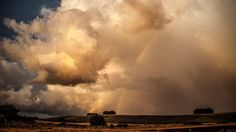 Rainbow and clouds in Wiltshire 29th July
