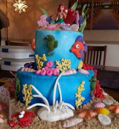 Brooke's birthday cake little mermaid