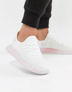 e204d0b07d75ca Image 1 of adidas Originals Deerupt Sneakers In White And Lilac Plimsolls