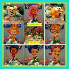 BUBBLE GUPPIES CAKE POPS! #THECAKEPOPFAIRIES Bubble Guppies Cake, Edible Party Favors, Bakery Ideas, Cake Pops, Fairies, Good Food, Birthdays, Bubbles, Cupcakes